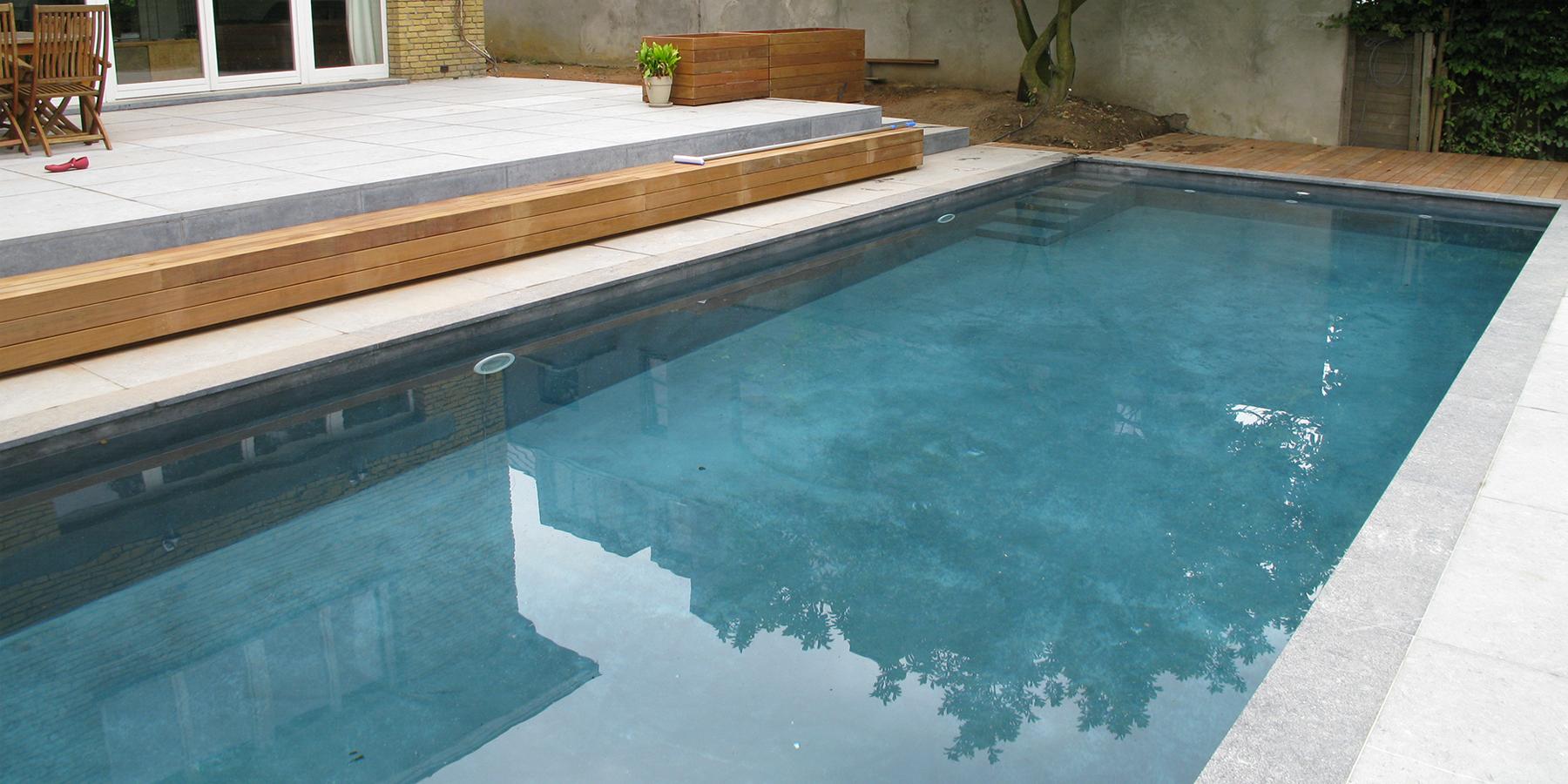 Piscine rectangle atypique sprl for Constructeur piscine belgique